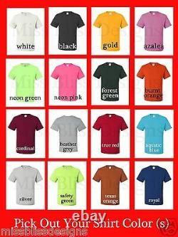 100 Custom Double Sided Silk Screened T-Shirts with 1 Color Print