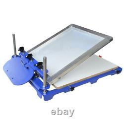 1 Color Screen Printing Press with 20x 24 Pallet Silk Screen Printing Machine