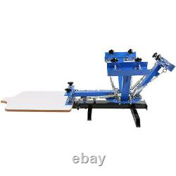 4 Color 1 Station Silk Screen Printing Machine Pressing Glass Manual GREAT