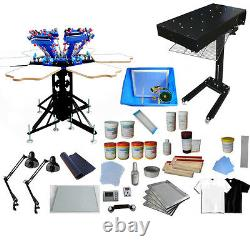 6 Color Silk Screen Printing Press Equipment Kit with Complete Supply Materialss