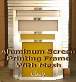 6 Pack 20 x 24Aluminum Frame With 130 mesh Silk Screen Printing Screens