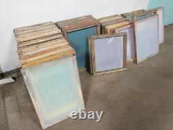Lot Of 58 HEAVY DUTY COMMERCIAL ASSORTED SILK SCREEN PRINTING FRAME withMESH