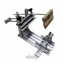 Manual Cylinder Silk Screen Printing Machine+10 Squeegee for Pen/Cup/Mug/Bottle