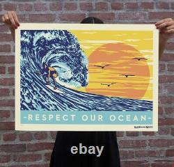 Obey X Pacifico X Surfrider Silk Screen Print by Shepard Fairey Ed 150