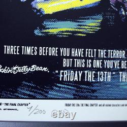 Rockin' Jelly Bean FR13-02 Friday The 13th -Final Chapter Silk Screen Print F/S