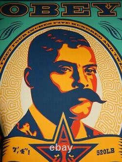 Shepard Fairey Poster Zapata 99 Teal 2020 Signed Silk Screen Print OBEY