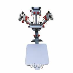 USA 4 Color 1 Station Silk Screen Printing Press Machine with Micro Registration