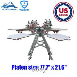 USA 4 Color 4 Station Silk Screen Printing Press Machine with Micro Registration