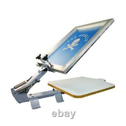 Ving 1 Color 1 Station Manual Silk Screen Printing Press for T shirt Brand New